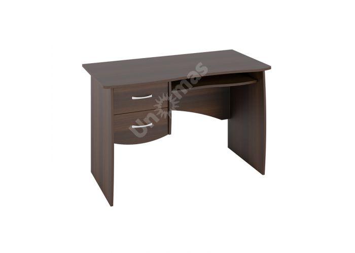Стол письменный С 108 Орех темный, Офисная мебель, Компьютерные и письменные столы, Стоимость 4854 рублей.