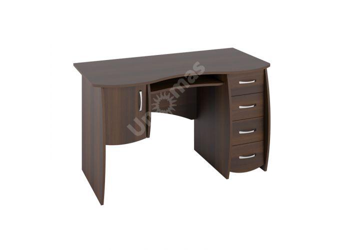 Стол письменный С 109 Орех темный, Офисная мебель, Компьютерные и письменные столы, Стоимость 7148 рублей.