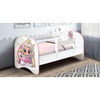 Кровать детская с фотопечатью без ящика Принцесса