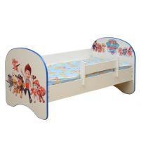 Кровать детская с фотопечатью без ящика Щенячий патруль