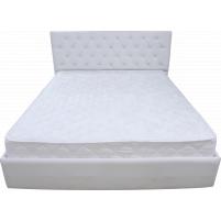 Кровать с изголовьем из каретной утяжки Нежность 180