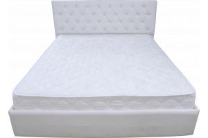 Кровать с изголовьем из каретной утяжки Нежность 160