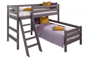 Угловая кровать Соня с наклонной лестницей Вариант 8