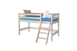 Низкая кровать Соня с наклонной лестницей Вариант 12