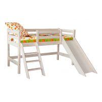 Низкая кровать Соня с прямой лестницей и горкой Вариант 14