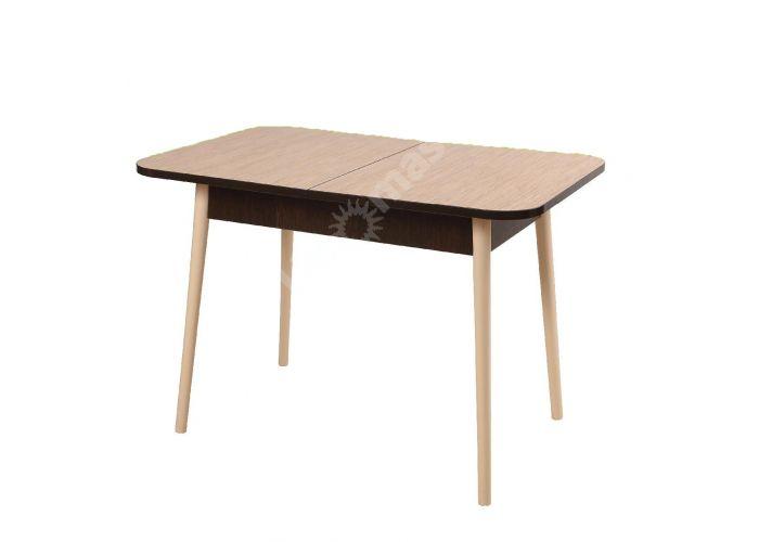 Стол Кухонный №16 (раздвижной) опора 8  Ваниль + столешница пластик