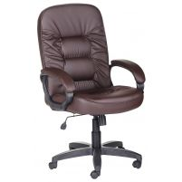 Кресло руководителя Болеро ультра /К/Ст. к/з КО коричневый