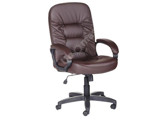 Кресло руководителя Болеро ультра /К/Ст. к/з КО коричневый, Офисная мебель, Кресла руководителя, Стоимость 9174 рублей.
