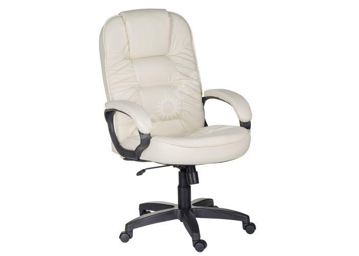 Кресло руководителя Бруно ультра /К/ Ст. к/з КО бежевый, Офисная мебель, Кресла руководителя, Стоимость 11561 рублей.