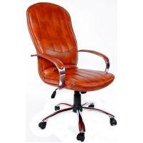 Кресло руководителя Дипломат /К/ Хром кожзам 6030U70R коричневый