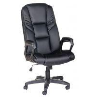 Кресло руководителя Одиссей ультра /К/Ст./ топ-ган к/з КО черный