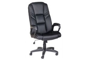 Кресло руководителя Одиссей ультра /К/Ст./ топ-ган к/з КО черный 46540