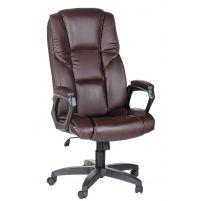 Кресло руководителя Одиссей ультра /К/Ст./ топ-ган к/з КО коричневый