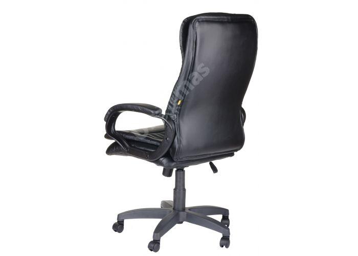 Кресло руководителя Силуэт ультра /К/Ст./ топ-ган к/з черный