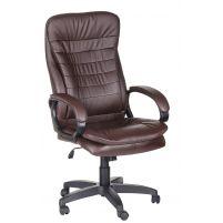 Кресло руководителя Силуэт ультра /К/Ст./ топ-ган к/з коричневый