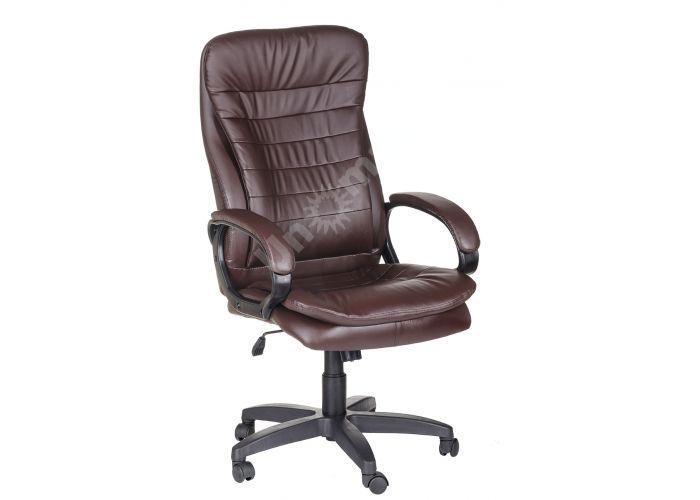 Кресло руководителя Силуэт ультра /К/Ст./ топ-ган к/з коричневый, Офисная мебель, Кресла руководителя, Стоимость 15170 рублей.