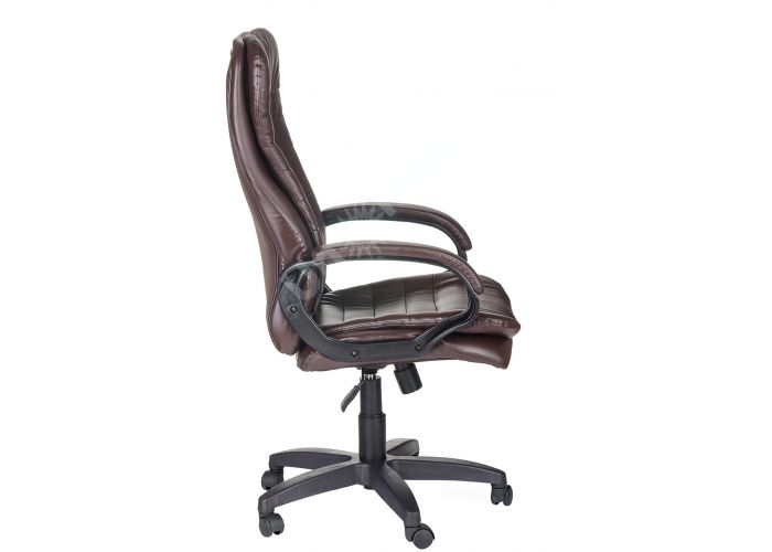 Кресло руководителя Силуэт ультра /К/Ст./ топ-ган к/з коричневый, Офисная мебель, Кресла руководителя, Стоимость 15170 рублей., фото 5