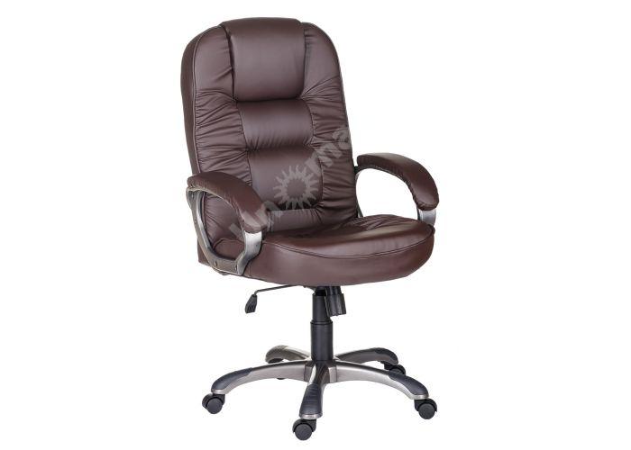 Кресло руководителя Бруно ультра /К/ЛЮКС/ топ-ган к/з КО коричневый, Офисная мебель, Кресла руководителя, Стоимость 13601 рублей.