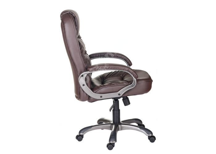 Кресло руководителя Бруно ультра /К/ЛЮКС/ топ-ган к/з КО коричневый, Офисная мебель, Кресла руководителя, Стоимость 13601 рублей., фото 2