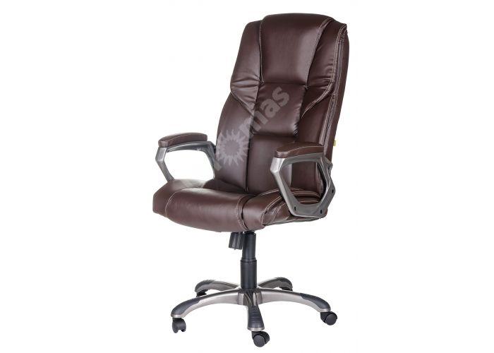 Кресло руководителя Одиссей ультра /К/ЛЮКС/ топ-ган к/з КО коричневый, Офисная мебель, Кресла руководителя, Стоимость 14041 рублей., фото 2