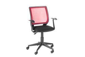 Кресло оператора Эксперт /Т-Эрго спинка TW красный / сиденье TW-11 черный