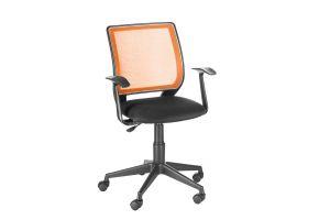 Кресло оператора Эксперт /Т-Эрго спинка TW оранжевый / сиденье TW-11 черный