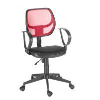 Кресло оператора Флеш profi/Рондо cпинка TW красный / сиденье TW-11 черный