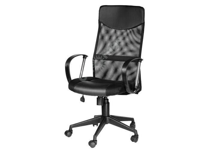 Кресло руководителя Оксфорд Б Люкс /Tw-11+Кожзам Чёрный, Офисная мебель, Кресла руководителя, Стоимость 7948 рублей., фото 3