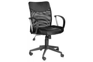 Кресло руководителя Оксфорд М Люкс /Tw-11+Кожзам Чёрный 46550