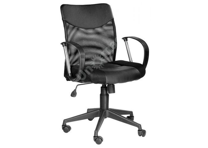 Кресло руководителя Оксфорд М Люкс /Tw-11+Кожзам Чёрный, Офисная мебель, Кресла руководителя, Стоимость 7757 рублей.