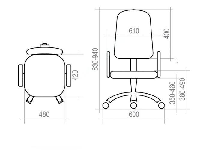 Кресло оператора Формула, Офисная мебель, Кресла оператора, Стоимость 2653 рублей., фото 8