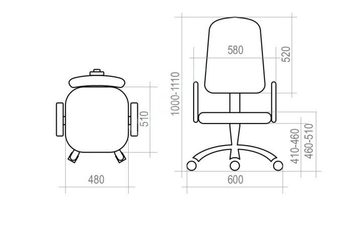 Кресло оператора Ирис /топ-ган/пластик, Офисная мебель, Кресла оператора, Стоимость 4567 рублей., фото 6