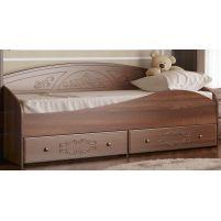 Каролина, Кровать с защитным бортом (спальное место 800*2000) Дуб кальяри / Дуб шеппи