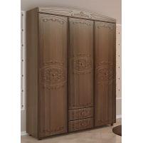 Каролина, Шкаф 3-х дверный комбинированный Дуб кальяри / Дуб шеппи