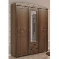 Каролина, Шкаф 3-х дверный комбинированный с зеркалом Дуб кальяри / Дуб шеппи