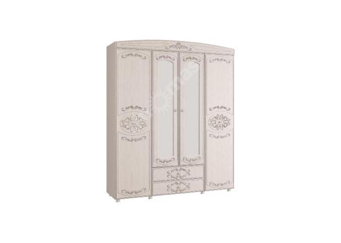 Каролина (патина), Шкаф 4-х дверный комбинированный с зеркалами