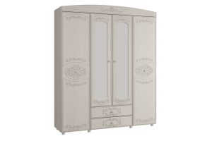 Каролина, Шкаф 4-х дверный комбинированный с зеркалами
