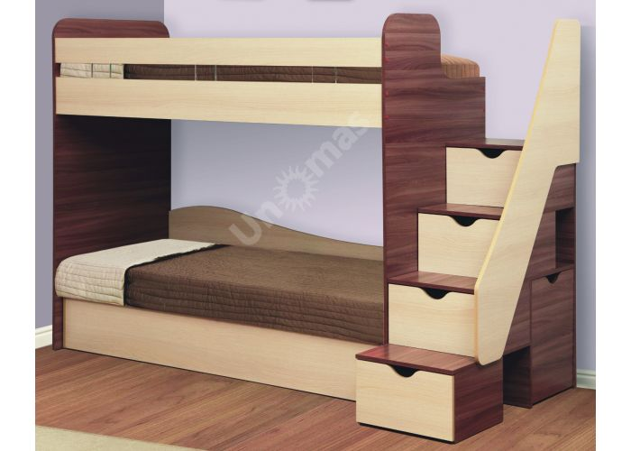 Адель-3 Кровать двухъярусная (комп. матрасами), Детская мебель, Двухъярусные кровати, Стоимость 34956 рублей.