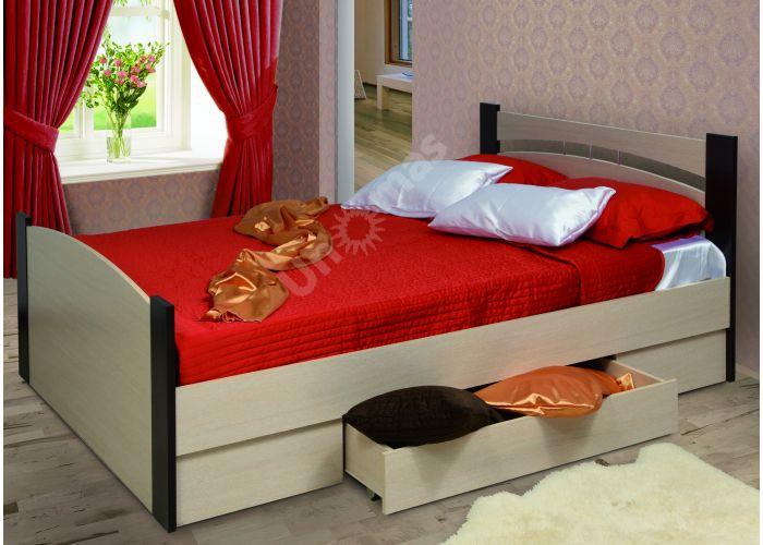 Кровать 1400 с бескаркасным основанием (спальное место 1400*2000)+Ящик универсальный, Спальни, Кровати, Стоимость 10332 рублей.