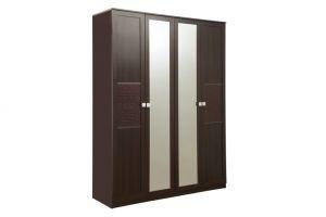 Мона, 06.38 Шкаф для одежды (каркас) +Дверь 2188*396 кож.зам. (2шт.) + Дверь 2188*397 с зеркалом (2шт.)