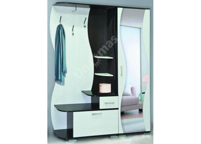 Визит - М10 шкаф комбинированный + Шкаф для одежды Визит - М07 + Зеркало №2, Прихожие, Прихожие, Стоимость 14099 рублей.