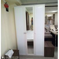 Мона, 06.56 Шкаф для одежды (каркас) +Дверь 2188*396 кож.зам. (2шт.) + Дверь 2188*397 с зеркалом