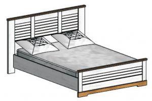Кантри, Кровать полуторная 140*200 (без основания, без матраса)