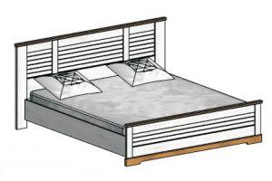 Кантри, Кровать двуспальная 160*200 (без основания, без матраса)
