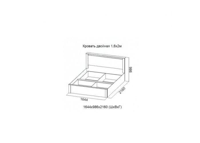 Гамма 20, Кровать двойная 1,6*2,0, Спальни, Кровати, Стоимость 10192 рублей., фото 2