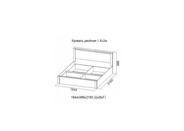 Гамма 20, Кровать двойная 1,8*2,0, Спальни, Кровати, Стоимость 10787 рублей., фото 2