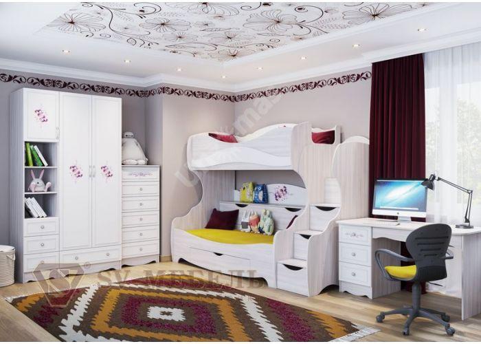 Акварель-1, Шкаф двухстворчатый с одним ящиком, Спальни, Шкафы, Стоимость 18257 рублей., фото 6