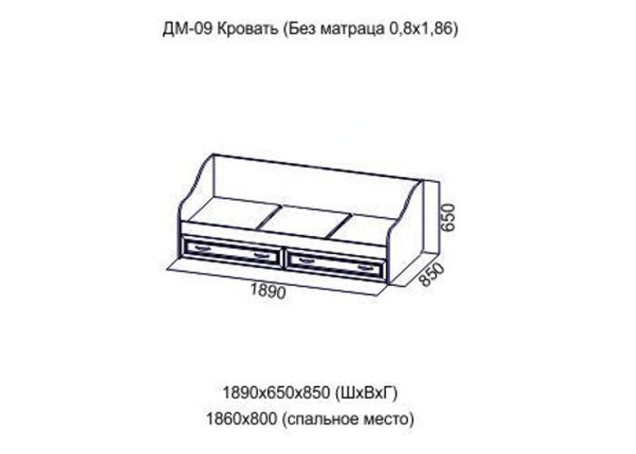 Вега, ДМ-09 Кровать (без матраса), Спальни, Кровати, Стоимость 6790 рублей., фото 2