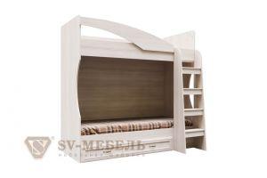 Вега, ДМ-16 Кровать двухъярусная (с ящиком) (Без матраца 0,8*1,86)