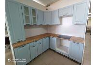 Кухня Грейвуд Деним голубой угловая 2м х 2м